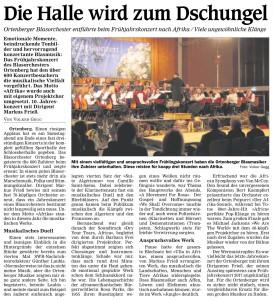 Zeitungsartikel Konzert 2016